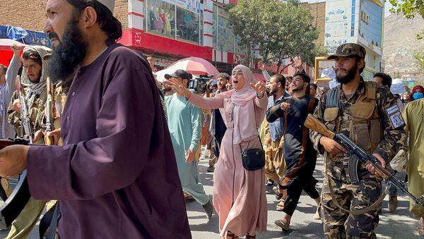 Taliban giải tán người biểu tình ở Kabul - Sputnik Việt Nam