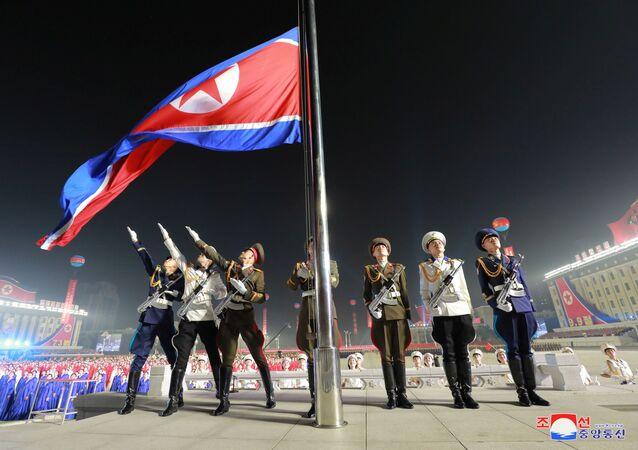 Сuộc duyệt binh của lực lượng dân quân và an ninh để  kỷ niệm 73 năm ngày thành lập Chính phủ nhân dân và Quốc khánh CHDCND Triều Tiên