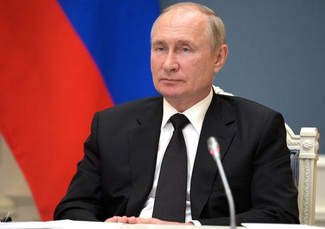 Tổng thống Nga Vladimir Putin tham dự Hội nghị thượng đỉnh BRICS lần thứ XIII (ngày 9 tháng 9 năm 2021)