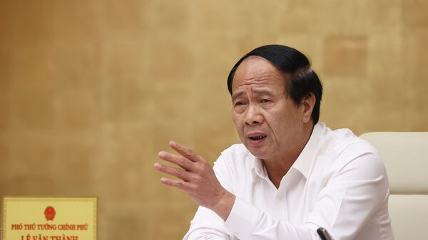 Phó Thủ tướng Lê Văn Thành phát biểu. - Sputnik Việt Nam