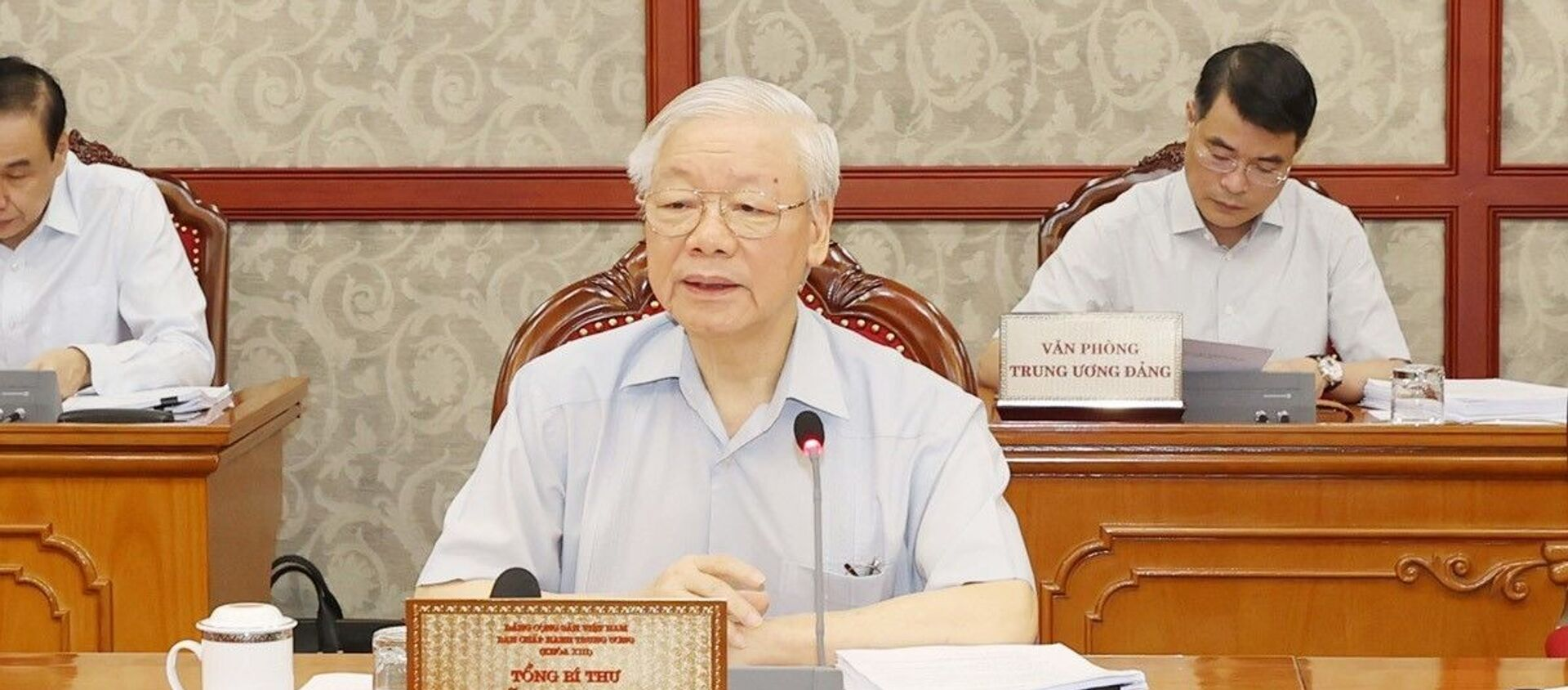Tổng Bí thư Nguyễn Phú Trọng phát biểu kết luận cuộc họp - Sputnik Việt Nam, 1920, 10.09.2021