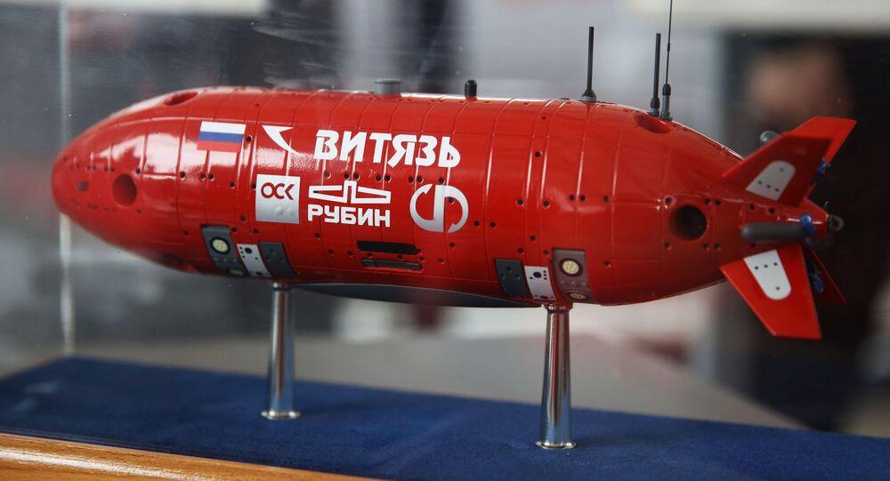 Mô hình tàu lặn độ sâu tự động không người lái Vityaz