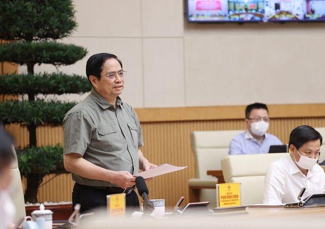 Thủ tướng Phạm Minh Chính phát biểu kết luận cuộc họp