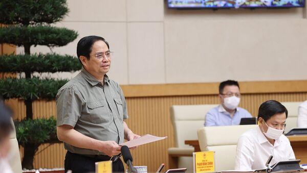 Thủ tướng Phạm Minh Chính phát biểu kết luận cuộc họp - Sputnik Việt Nam