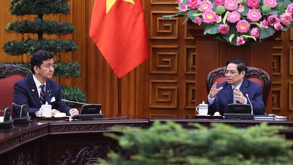 Thủ tướng Phạm Minh Chính tiếp Bộ trưởng Quốc phòng Nhật Bản Kishi Nobuo - Sputnik Việt Nam