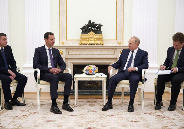 Ông Putin gặp Tổng thống Syria tại Điện Kremlin (13/09/2021)