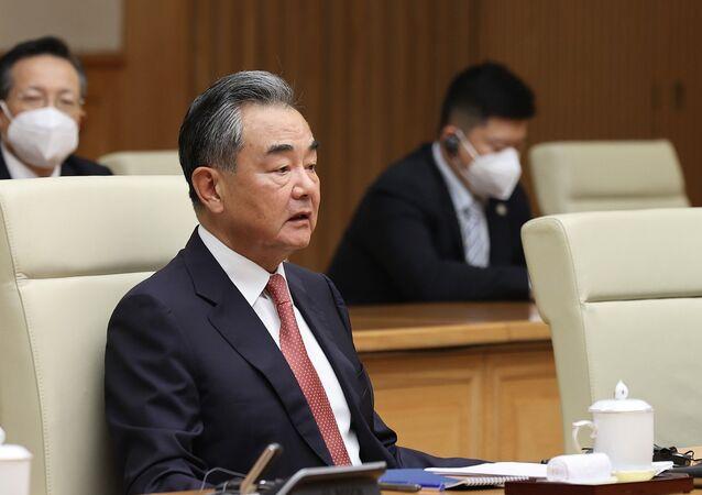 Bộ trưởng Ngoại giao Trung Quốc Vương Nghị phát biểu