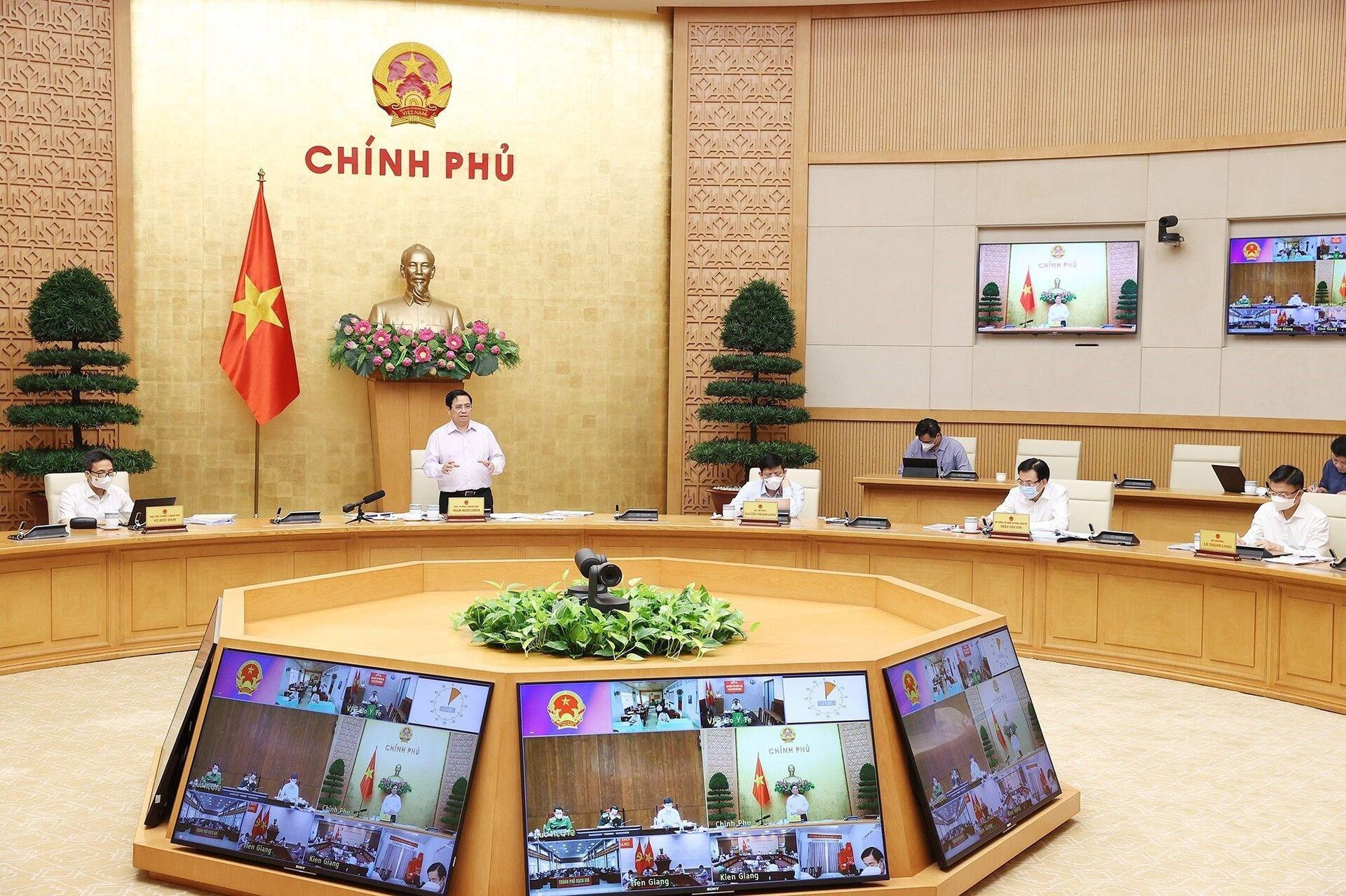 Thủ tướng Phạm Minh Chính kết luận cuộc họp - Sputnik Việt Nam, 1920, 05.10.2021