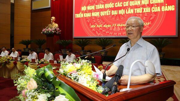 Tổng Bí thư Nguyễn Phú Trọng phát biểu chỉ đạo hội nghị - Sputnik Việt Nam