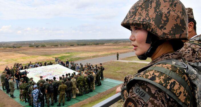 Đại diện của quân đội Mông Cổ trong giai đoạn chính của cuộc tập trận Zapad-2021 tại thao trường Mulino, tỉnh Nizhny Novgorod