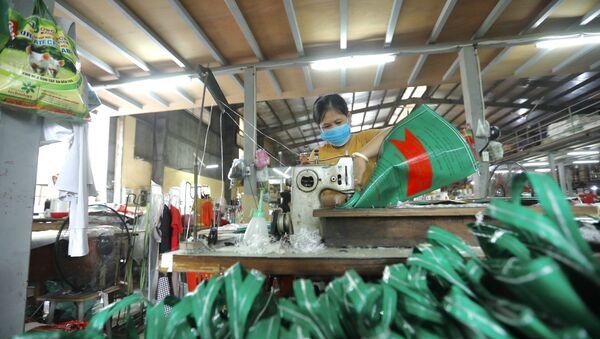 Dây chuyền sản xuất bao bì đựng thức ăn gia súc tại Công ty TNHH Tân Trang - Sputnik Việt Nam