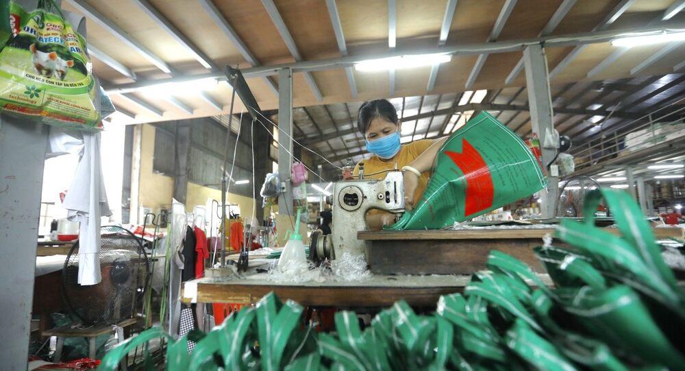 Dây chuyền sản xuất bao bì đựng thức ăn gia súc tại Công ty TNHH Tân Trang