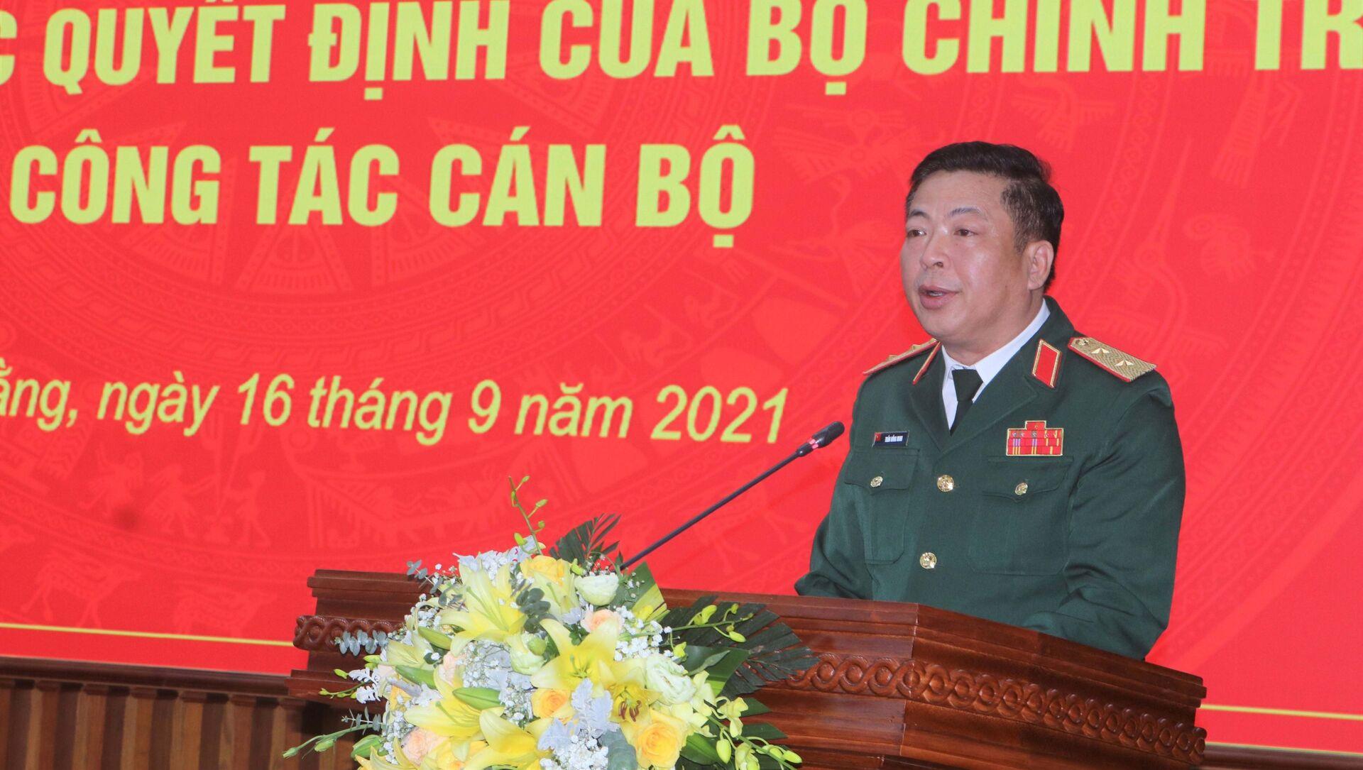 Bí thư Tỉnh ủy Cao Bằng Trần Hồng Minh phát biểu nhận nhiệm vụ - Sputnik Việt Nam, 1920, 16.09.2021