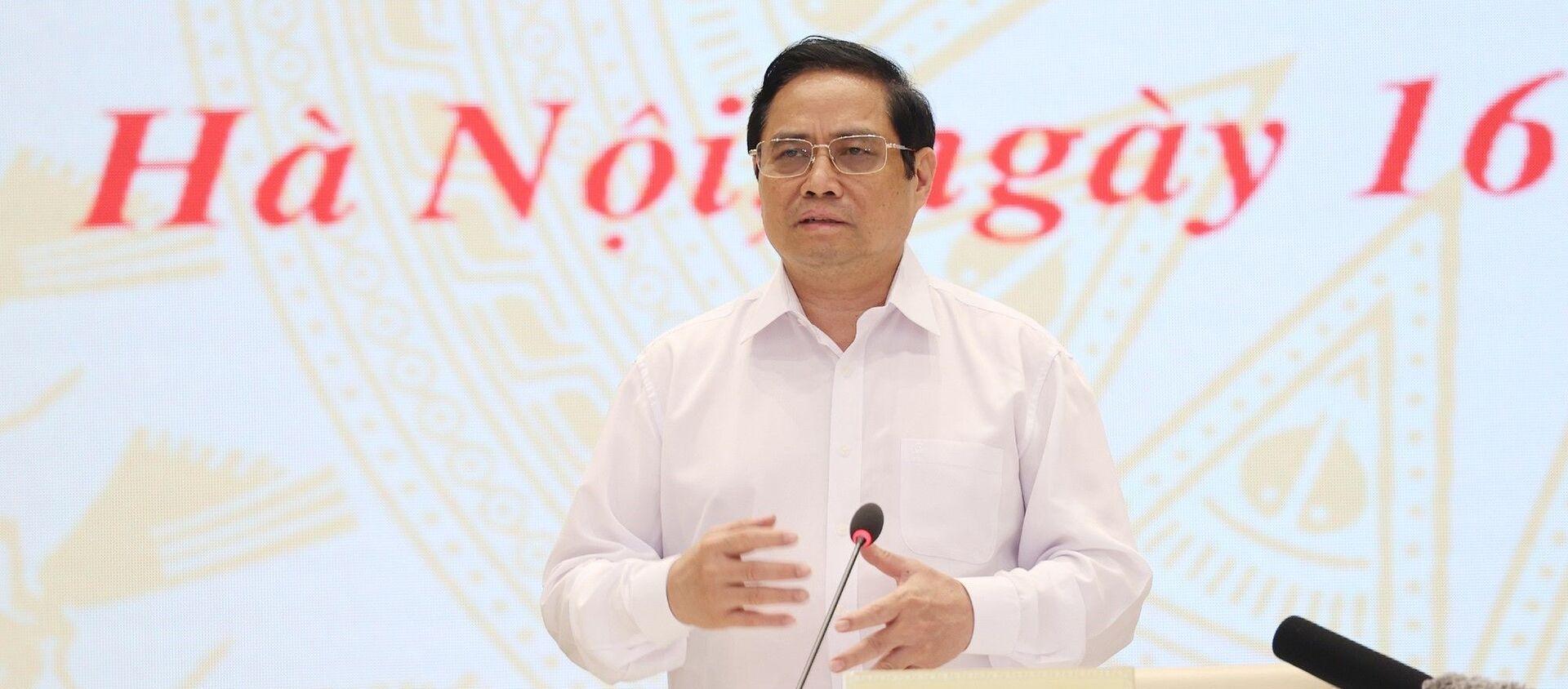Thủ tướng Phạm Minh Chính phát biểu kết luận hội nghị - Sputnik Việt Nam, 1920, 16.09.2021