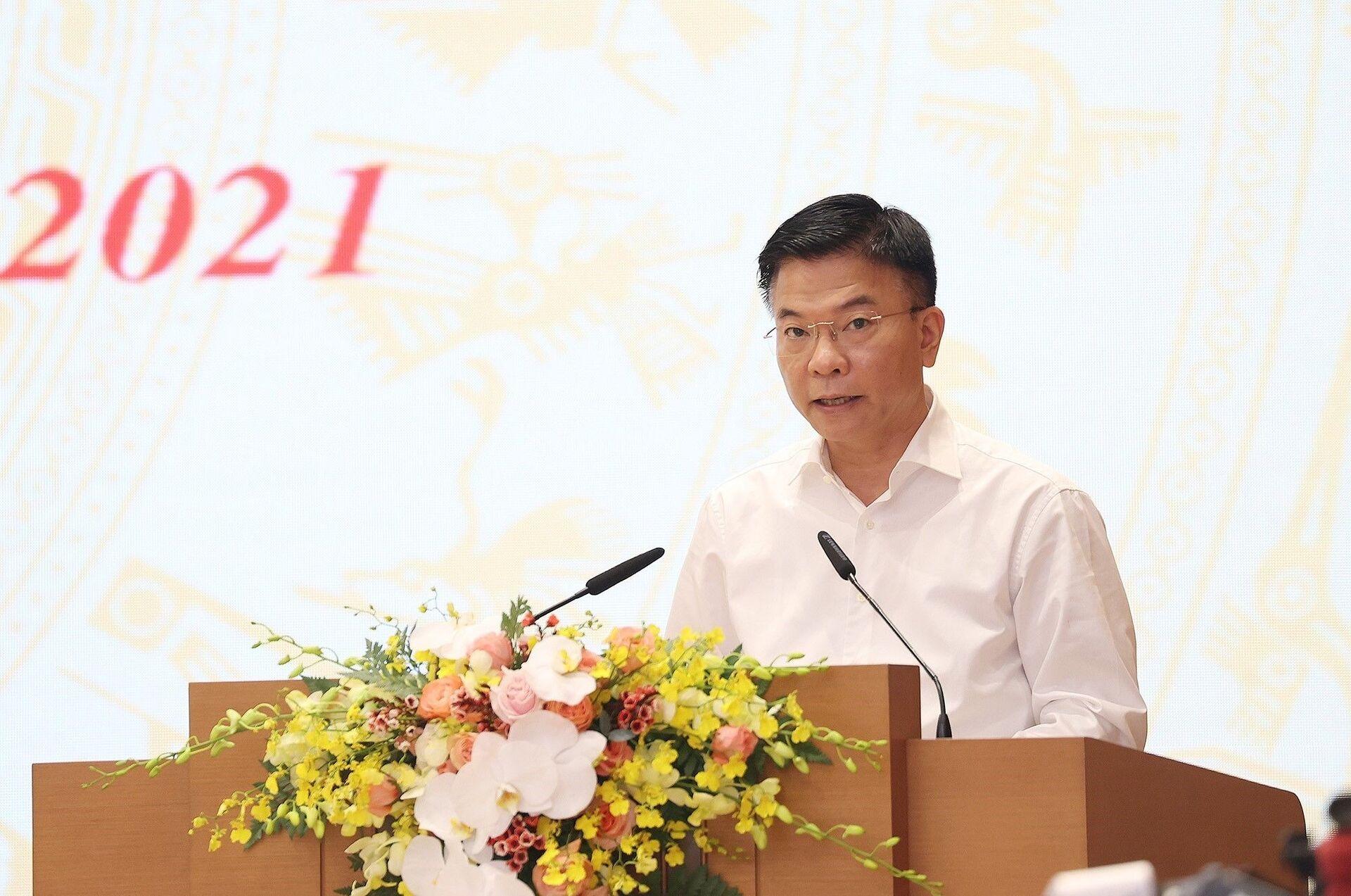 Bộ trưởng Bộ Tư pháp Lê Thành Long phát biểu - Sputnik Việt Nam, 1920, 05.10.2021