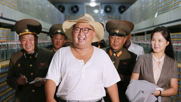 Chủ tịch Kim Jong-un kiểm tra nhà máy ở Kumsanpho, Bắc Triều Tiên - Sputnik Việt Nam