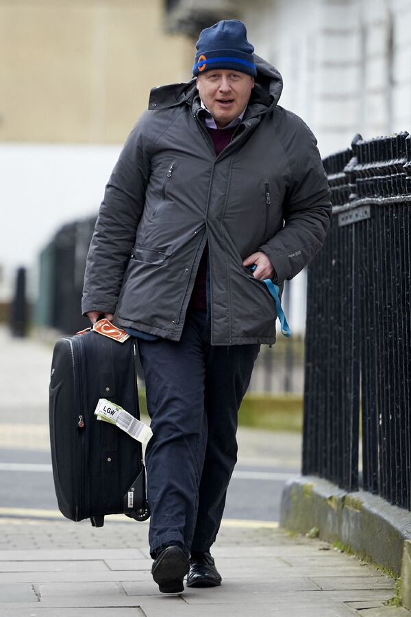 Thủ tướng Anh Boris Johnson tại nhà ở London - Sputnik Việt Nam