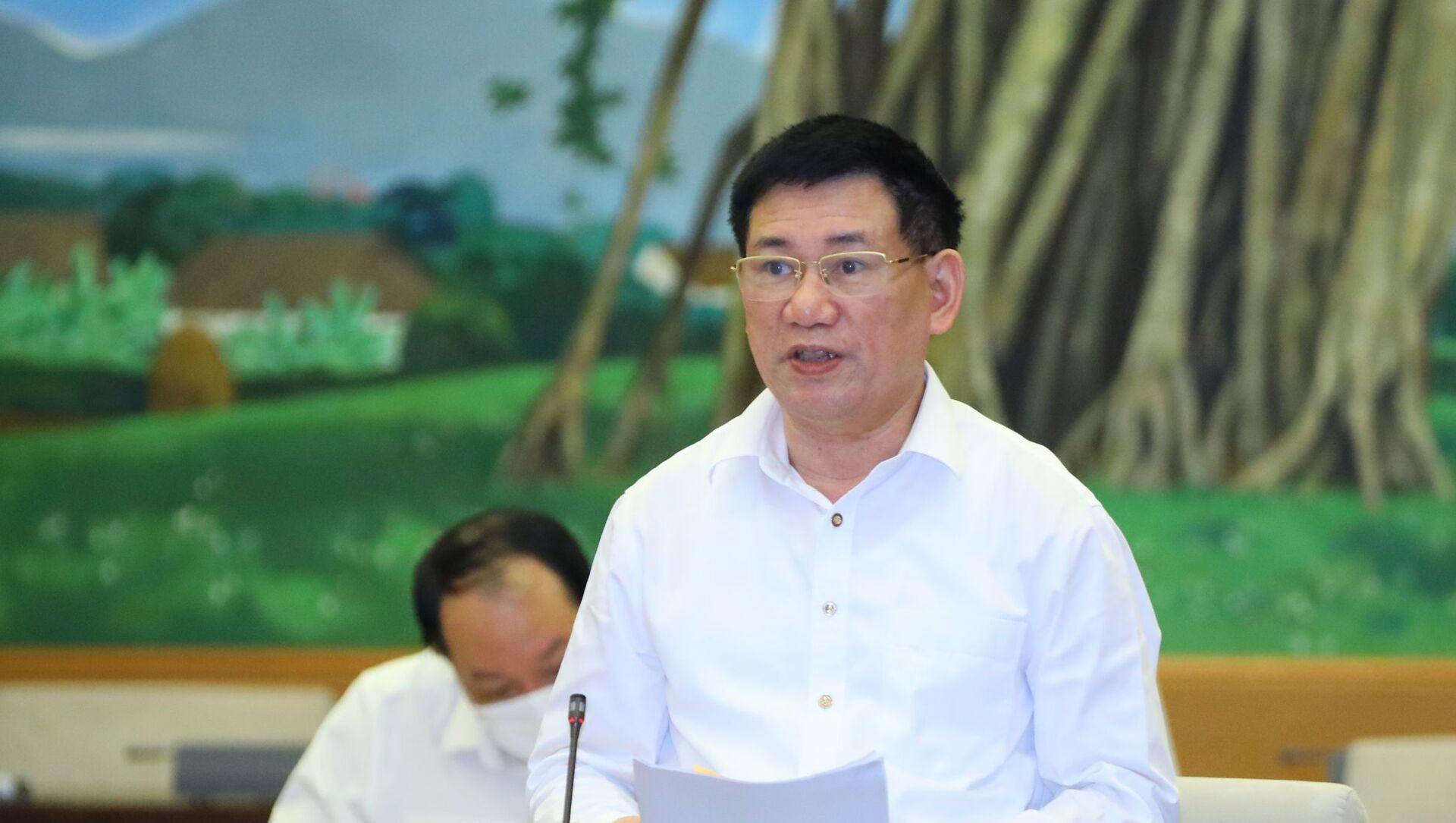 Bộ trưởng Bộ Tài chính Hồ Đức Phớc trình bày tờ trình - Sputnik Việt Nam, 1920, 17.09.2021