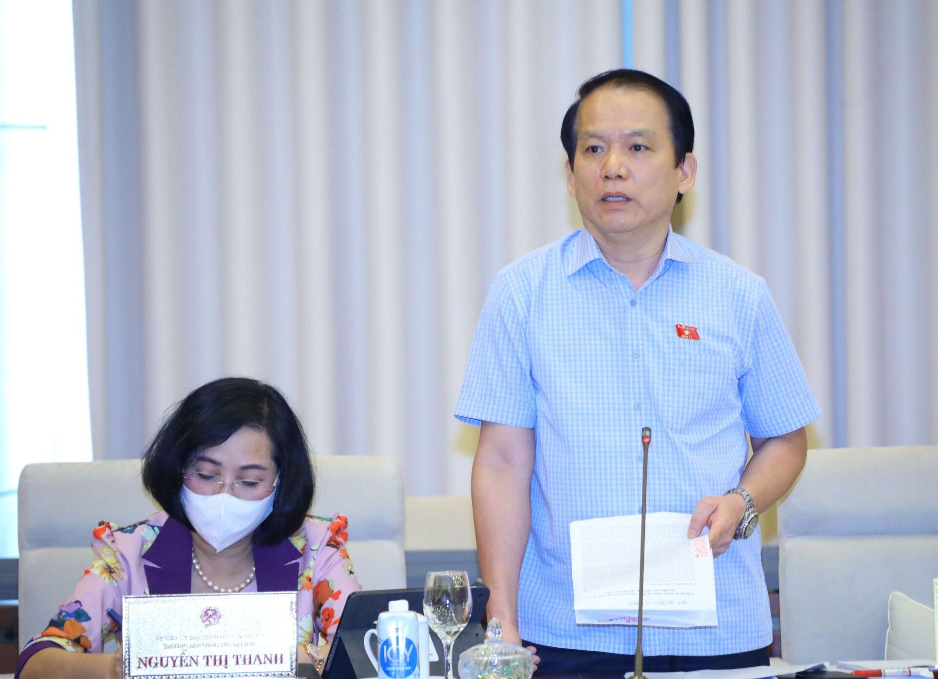 Chủ nhiệm Ủy ban Pháp luật của Quốc hội Hoàng Thanh Tùng phát biểu - Sputnik Việt Nam, 1920, 05.10.2021