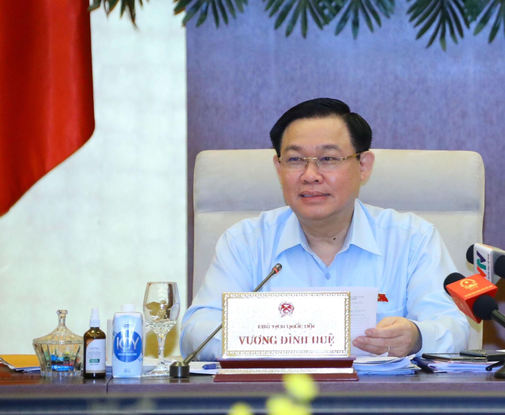 Chủ tịch Quốc hội Vương Đình Huệ phát biểu - Sputnik Việt Nam, 1920, 05.10.2021