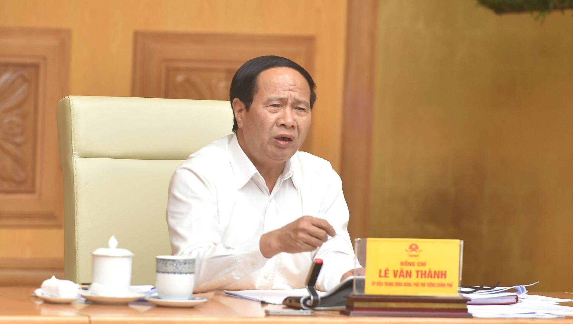 Phó Thủ tướng Lê Văn Thành chủ trì hội nghị - Sputnik Việt Nam, 1920, 19.09.2021