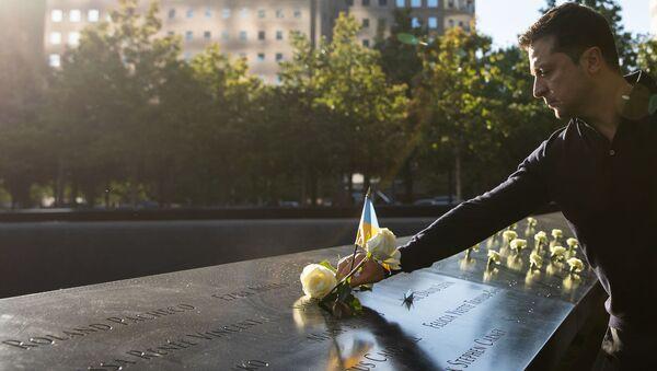 Vladimir Zelensky trong sự kiện tưởng nhớ các nạn nhân vụ khủng bố 11/9 ở New York - Sputnik Việt Nam