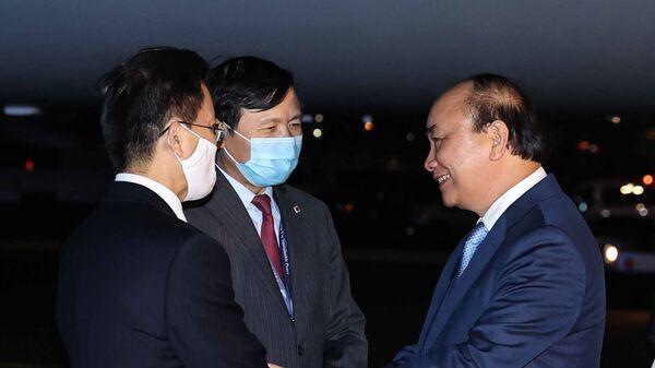 Chủ tịch nước Nguyễn Xuân Phúc đến New York, Hoa Kỳ - Sputnik Việt Nam