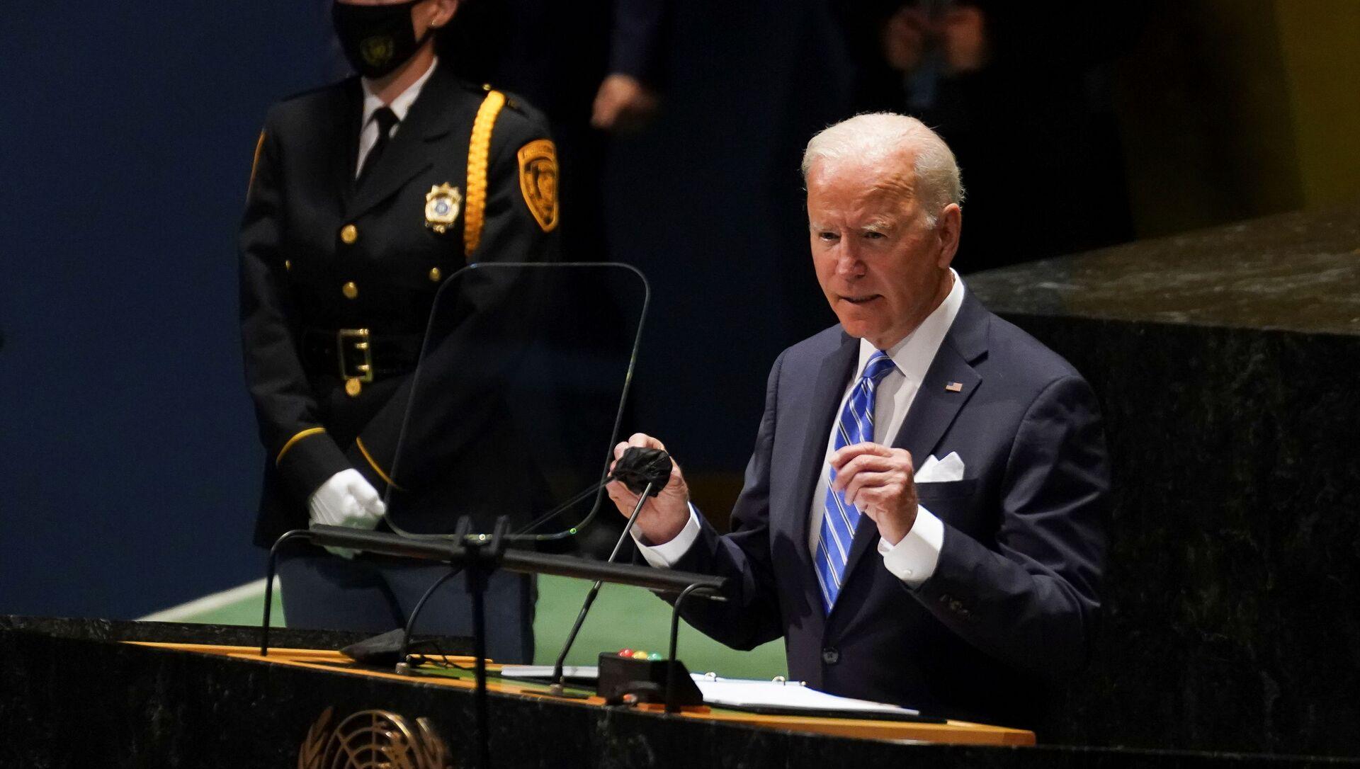 Tổng thống Joe Biden tại phiên họp thường niên lần thứ 76 của Đại hội đồng Liên Hợp Quốc - Sputnik Việt Nam, 1920, 21.09.2021