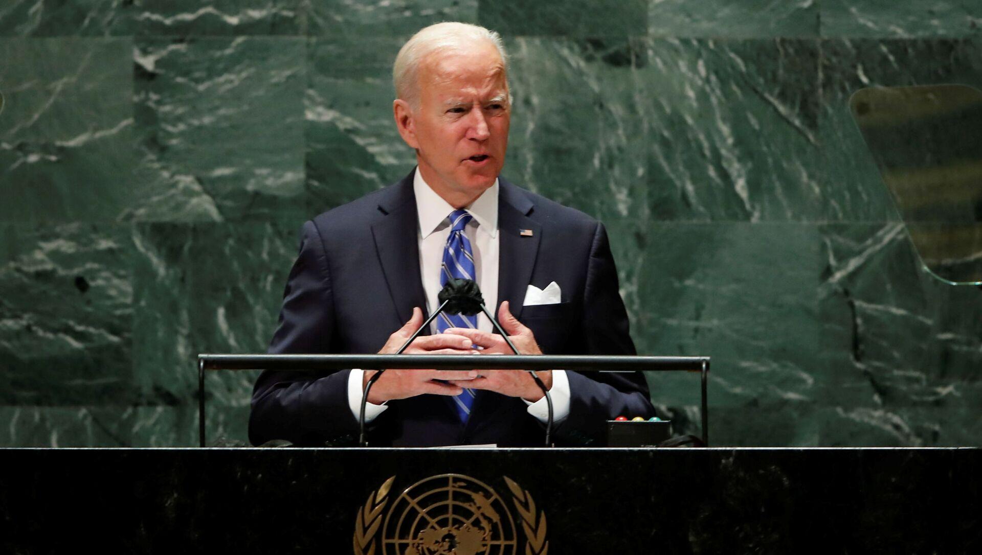 Tổng thống Joe Biden tại phiên họp thường niên lần thứ 76 của Đại hội đồng Liên Hợp Quốc - Sputnik Việt Nam, 1920, 22.09.2021