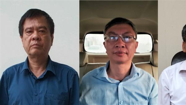 Các bị can Nguyễn Quang Tuyến, Võ Thúc Chính, Mai Thanh An (từ trái qua). - Sputnik Việt Nam