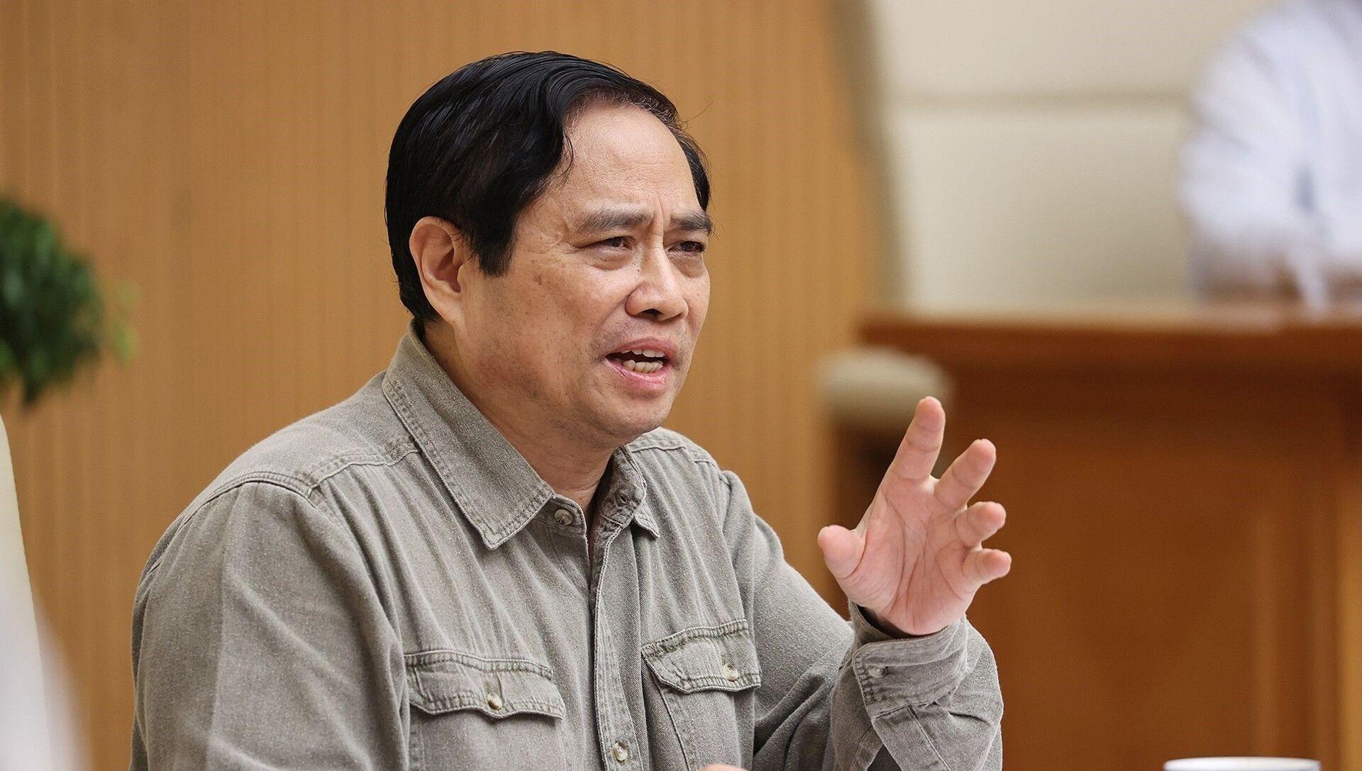 Thủ tướng Phạm Minh Chính chủ trì họp Ban Chỉ đạo Quốc gia phòng, chống dịch COVID-19 - Sputnik Việt Nam, 1920, 24.09.2021