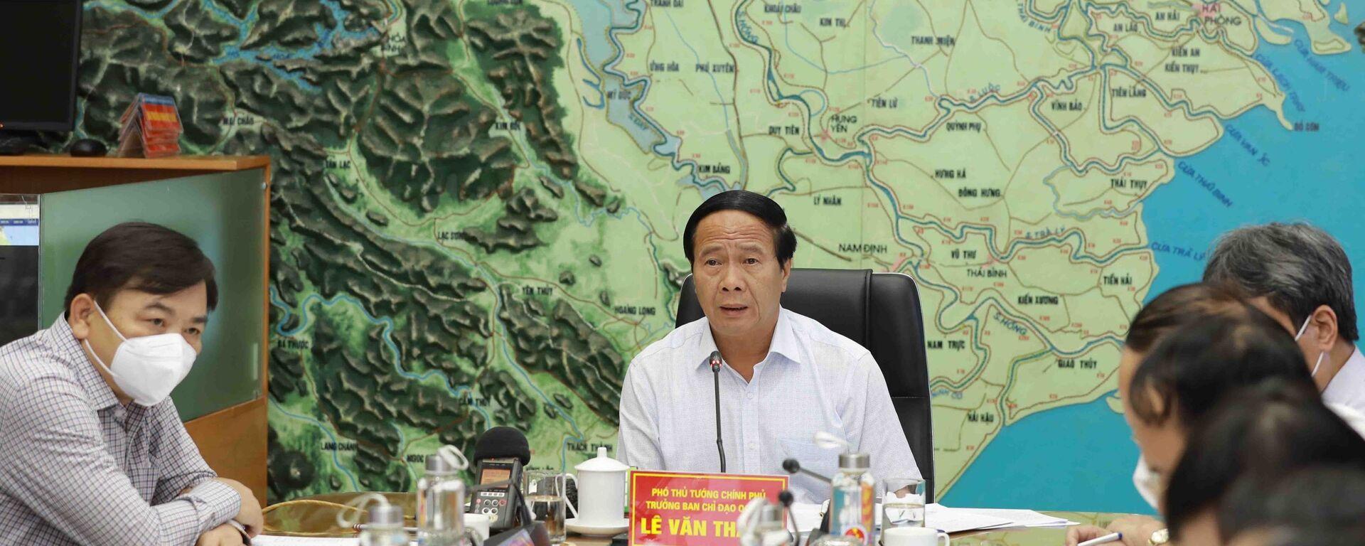 Phó Thủ tướng Lê Văn Thành chỉ đạo công tác ứng phó với bão số 6 - Sputnik Việt Nam, 1920, 24.09.2021