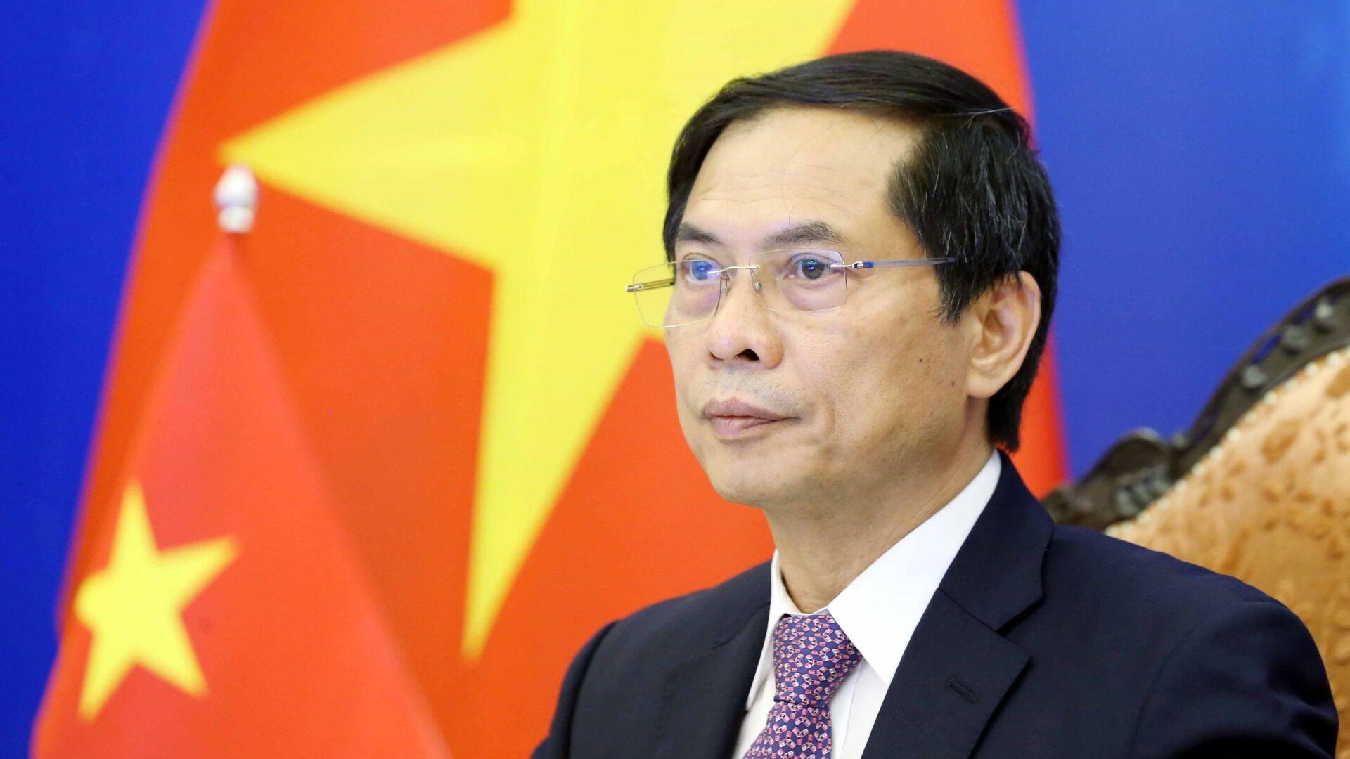 Bộ trưởng Bộ Ngoại giao Bùi Thanh Sơn dự Hội nghị Hợp tác Mekong - Nhật Bản lần thứ 14 theo hình thức trực tuyến. - Sputnik Việt Nam, 1920, 24.09.2021