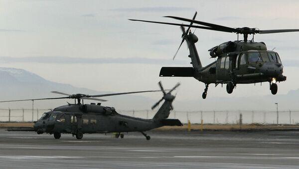 Máy bay trực thăng quân sự Mỹ tại căn cứ không quân Keflavik ở Iceland - Sputnik Việt Nam