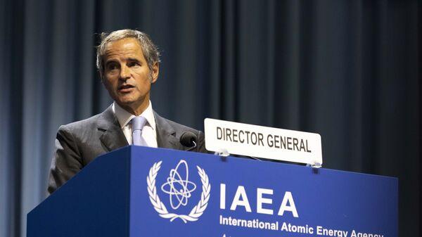 Tổng Giám đốc IAEA Rafael Mariano Grossi phát biểu tại Đại hội đồng IAEA khóa 65 - Sputnik Việt Nam