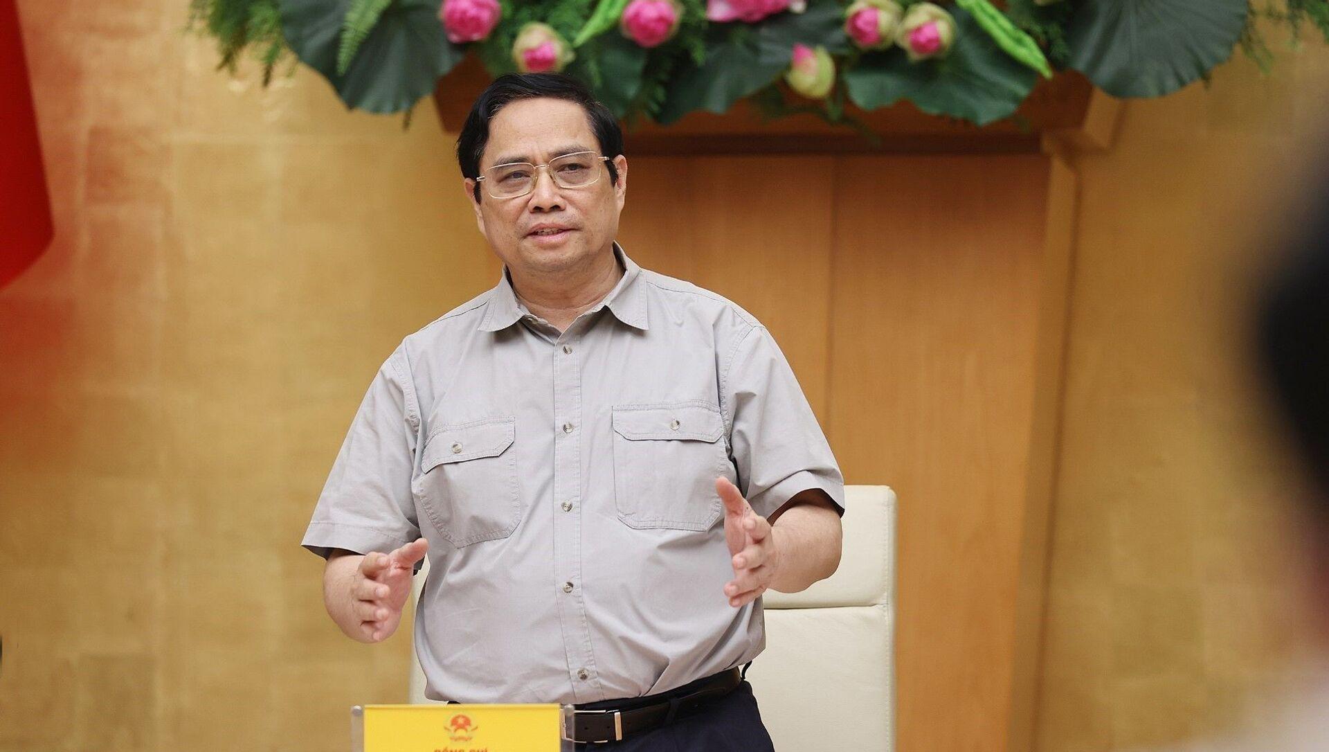 Thủ tướng Phạm Minh Chính phát biểu kết luận cuộc họp - Sputnik Việt Nam, 1920, 29.09.2021
