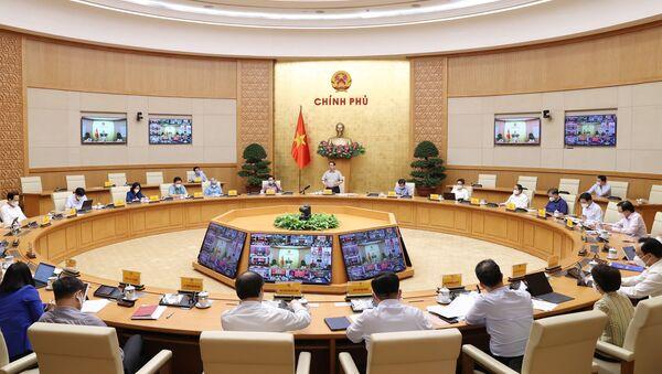 Quang cảnh cuộc họp tại điểm cầu Chính phủ - Sputnik Việt Nam
