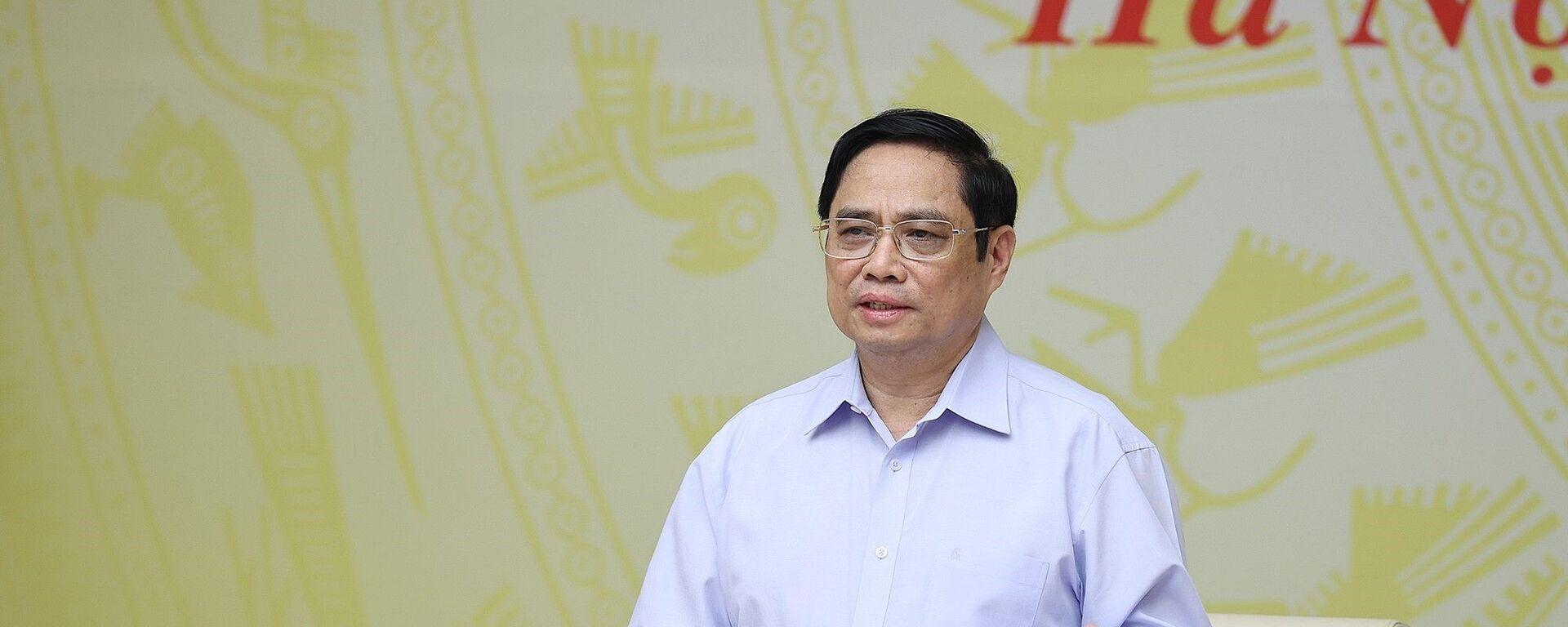 Thủ tướng Phạm Minh Chính chủ trì Hội nghị bàn giải pháp hỗ trợ doanh nghiệp trong bối cảnh dịch COVID-19 - Sputnik Việt Nam, 1920, 26.09.2021