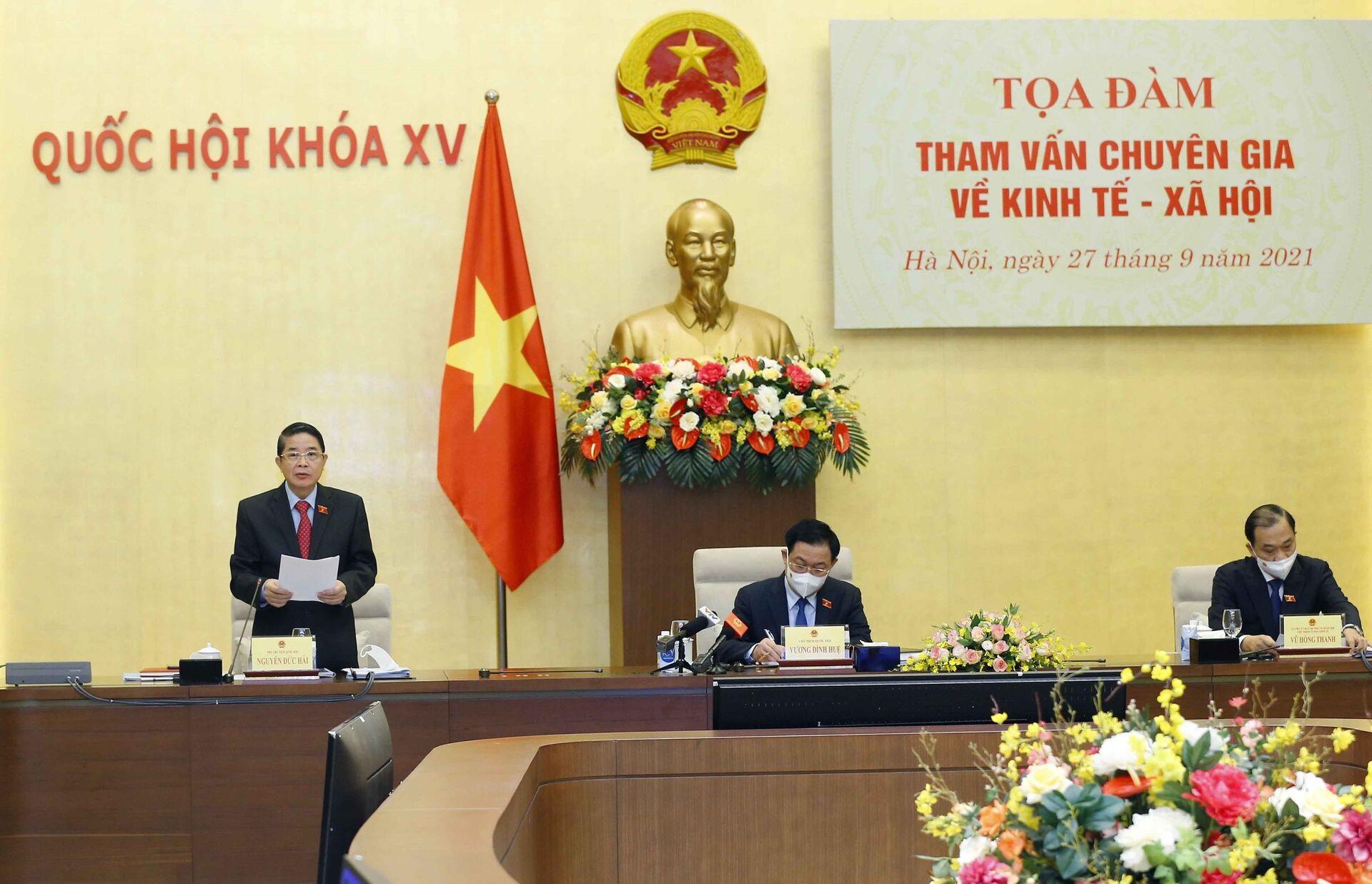 Phó Chủ tịch Quốc hội Nguyễn Đức Hải phát biểu. - Sputnik Việt Nam, 1920, 05.10.2021