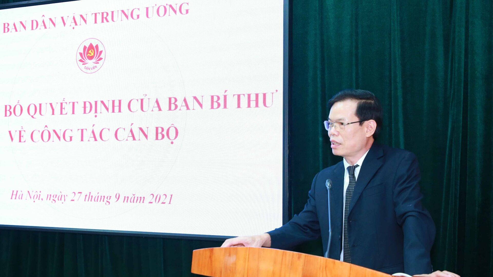 Phó Trưởng Ban Dân vận Trung ương Triệu Tài Vinh phát biểu. - Sputnik Việt Nam, 1920, 27.09.2021