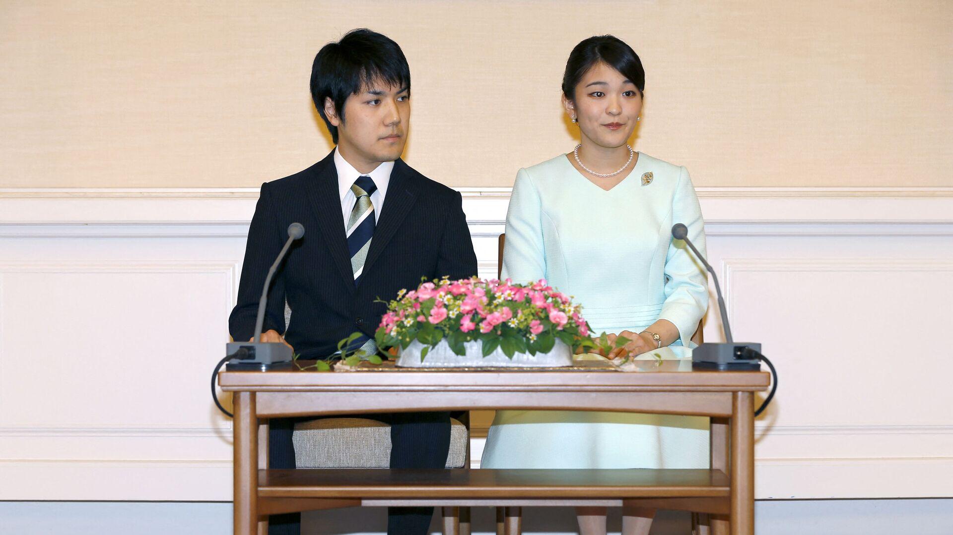 Công chúa Mako của Nhật Bản và chú rể Kei Komuro - Sputnik Việt Nam, 1920, 28.09.2021