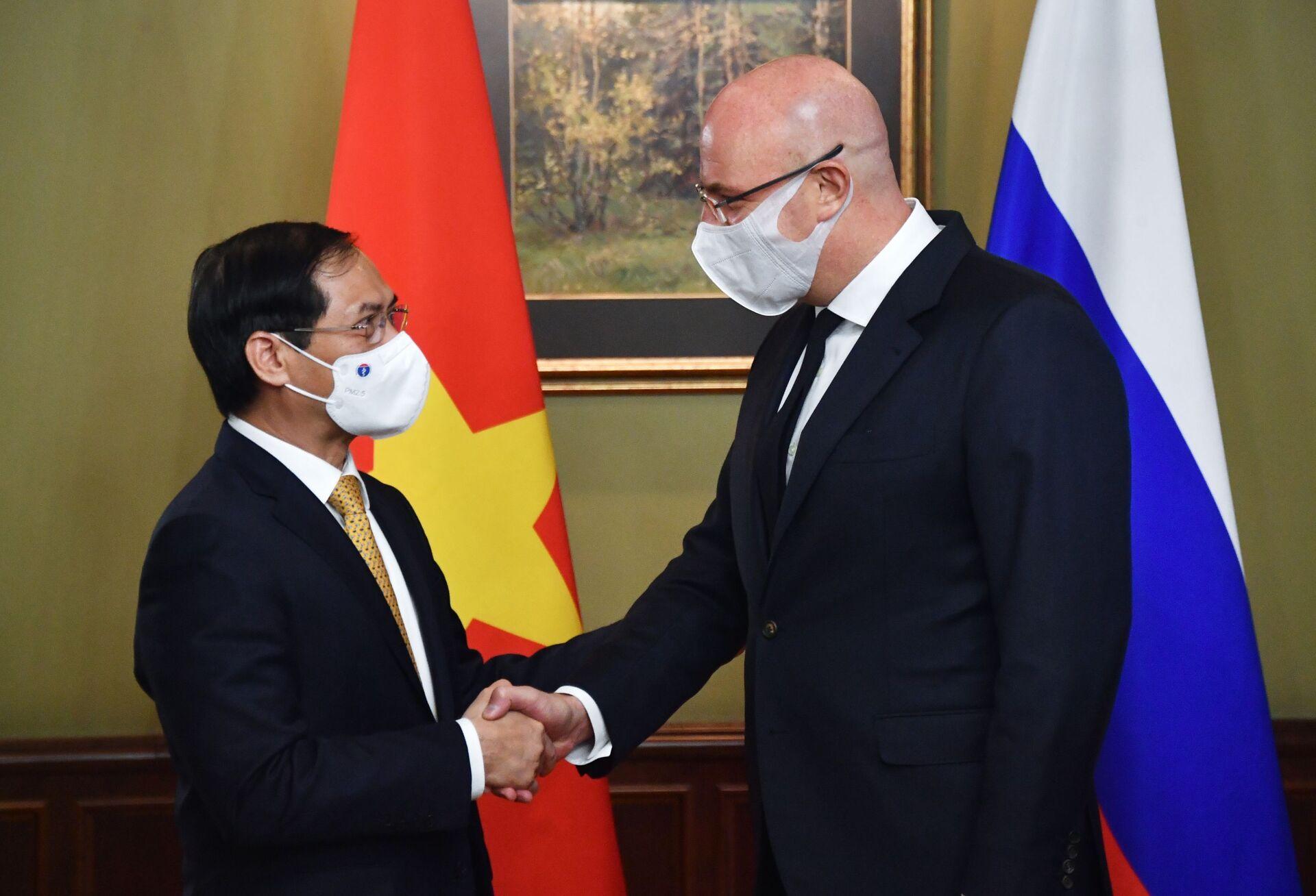 Cuộc gặp của Phó Thủ tướng D. Chernyshenko và Bộ trưởng Ngoại giao Việt Nam Bùi Thanh Sơn - Sputnik Việt Nam, 1920, 05.10.2021