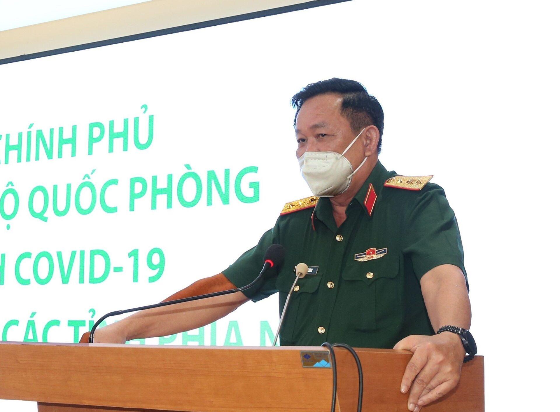 Thượng tướng Võ Minh Lương phát biểu tại buổi làm việc. - Sputnik Việt Nam, 1920, 05.10.2021
