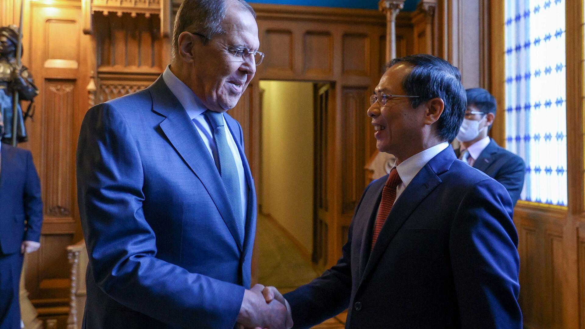 Bộ trưởng Ngoại giao Bùi Thanh Sơn hội đàm với Bộ trưởng Ngoại giao Nga Sergei Lavrov - Sputnik Việt Nam, 1920, 29.09.2021