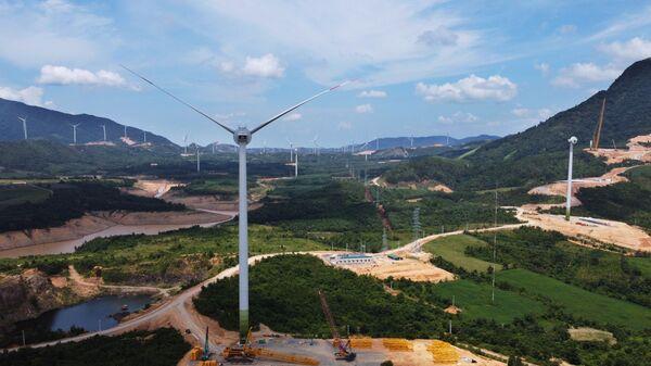 Cánh đồng điện gió ở huyện Hướng Hóa (Quảng Trị). - Sputnik Việt Nam