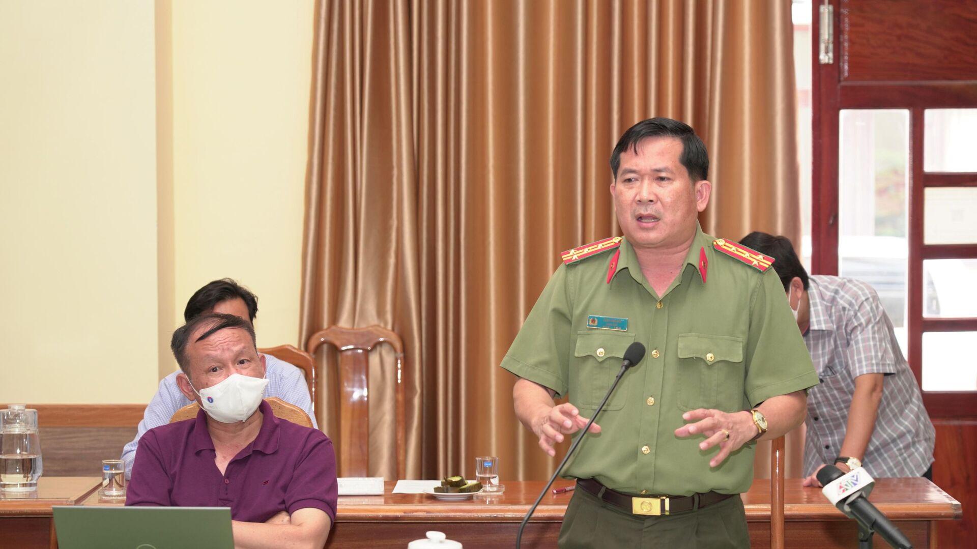 Đại tá Đinh Văn Nơi, Giám đốc Công an tỉnh An Giang phát biểu - Sputnik Việt Nam, 1920, 04.10.2021