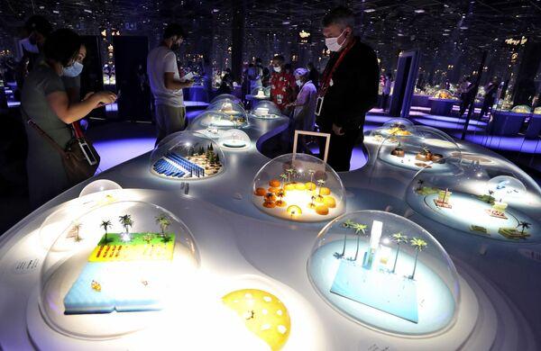 Gian hàng của Nhật Bản tại Triển lãm Toàn thế giới World Expo 2020 ở Dubai, Các Tiểu vương quốc Ả Rập Thống nhất - Sputnik Việt Nam