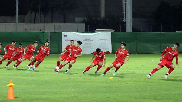 Vòng loại World Cup 2022 khu vực châu Á: Đội tuyển Việt Nam tập đối kháng, rà soát đội hình - Sputnik Việt Nam