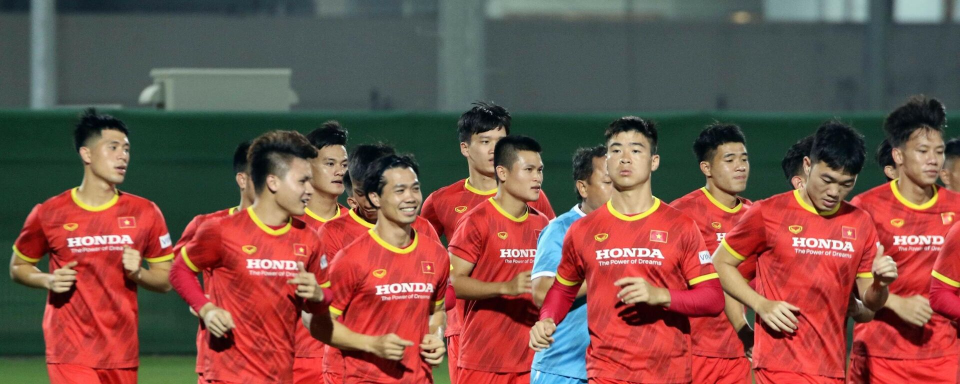 Vòng loại World Cup 2022: Đội tuyển Việt Nam tập buổi đầu tiên ở Sharjah - Sputnik Việt Nam, 1920, 06.10.2021