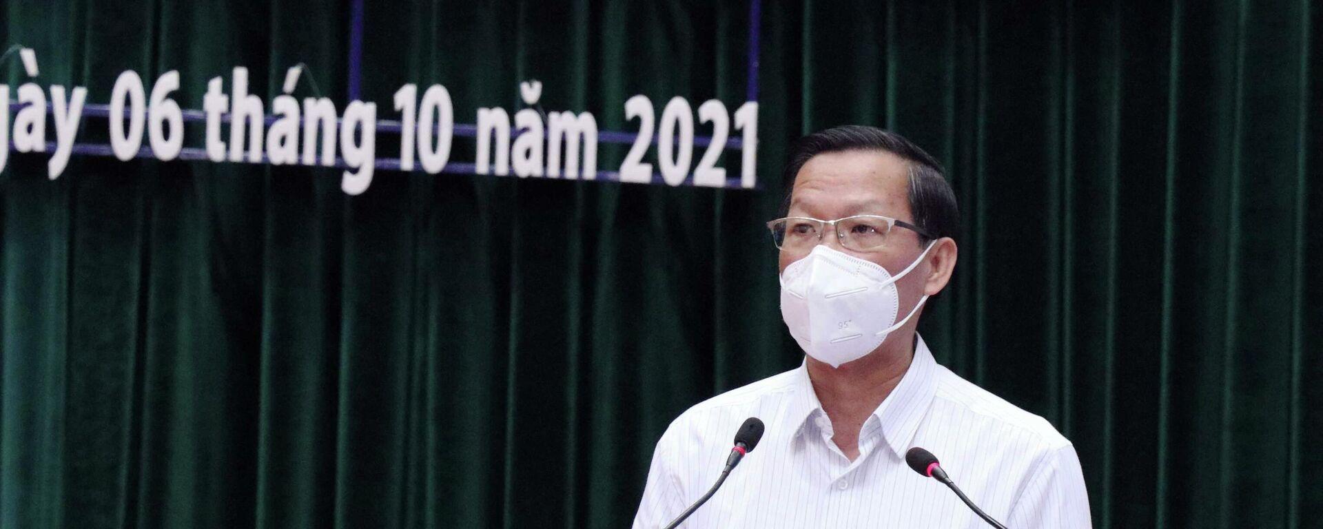 Ông Phan Văn Mãi, Phó Bí thư Thường trực Thành ủy, Chủ tịch UBND Thành phố Hồ chí Minh - Sputnik Việt Nam, 1920, 06.10.2021